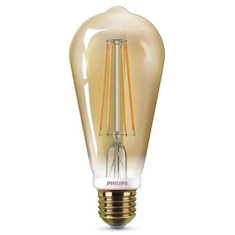 E27 LED bulb ST64 7 W in gold, dimmable