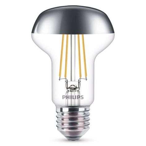 E27 R63 LED reflector bulb, half mirror 4 W 2700 K