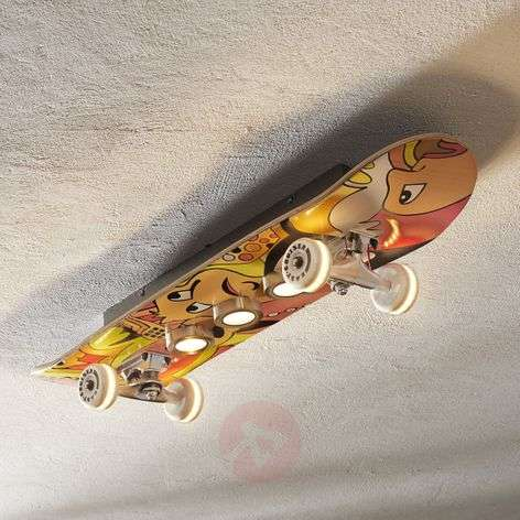Easy Cruiser LED ceiling light skateboard look