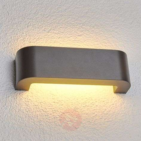 Eberta LED outdoor wall light in graphite grey-9647008-31