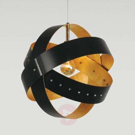 Ecliptika - hanging light with gold leaf
