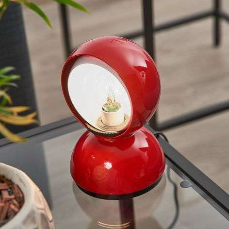 Eclisse red designer table light