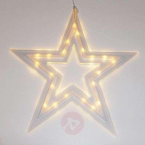 Effective LED star Kville, battery-powered