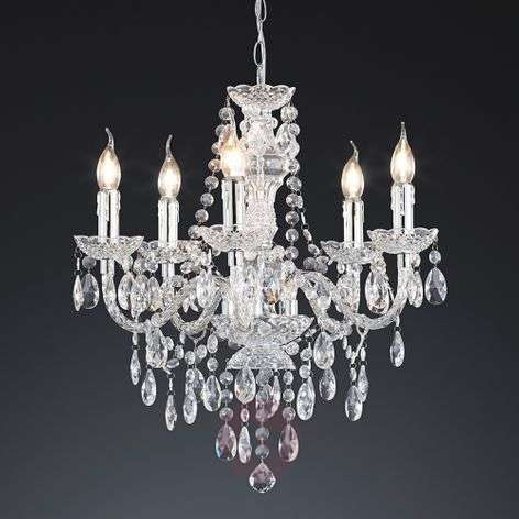 Effective Perdita chandelier, transparent