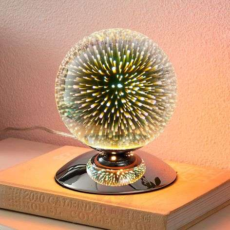 Effective table lamp Isumi, spherical