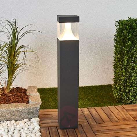 Egon outdoor path lamp, with LED
