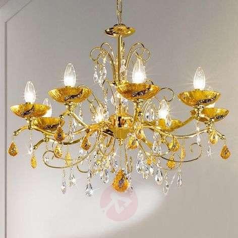 Eight-bulb chandelier Carmen Kiss, Klimt design