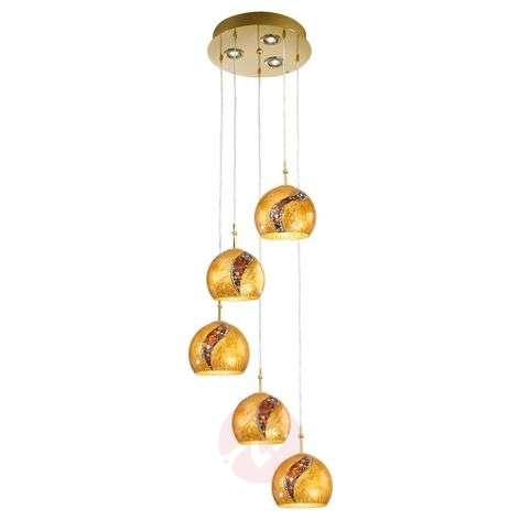 Eight-bulb Klimt hanging light Leona Kiss