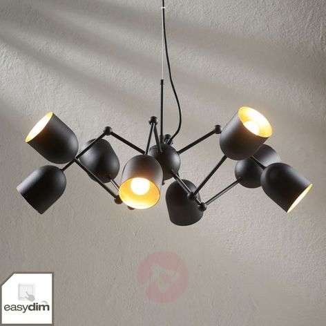Eight-bulb LED pendant light Morik, Easydim