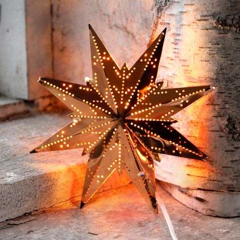 Eight-pointed brass star Mini