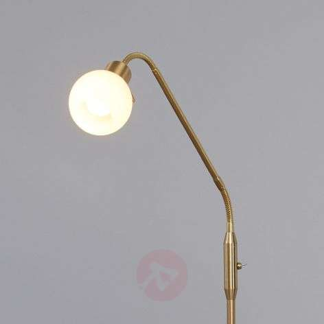 Elaina - LED reading light in brass