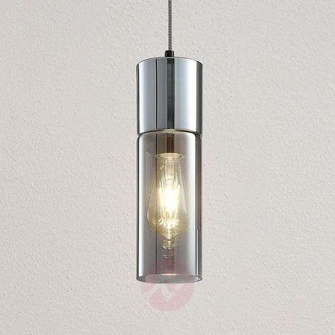 Eleen pendant lamp with smoked glass cylinder
