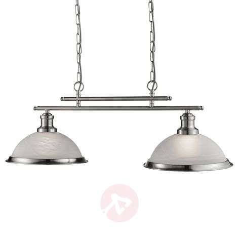 Elegant Bistro hanging light with 2 bulbs, antique