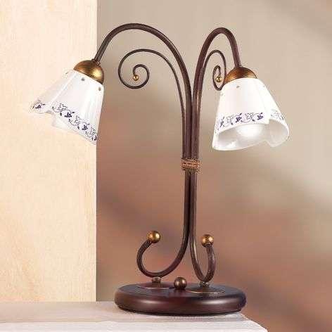 Elegant CARTOCCIO table lamp, 2-bulb