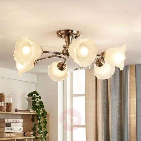 Elegant ceiling lamp Aurelia withs a floral look
