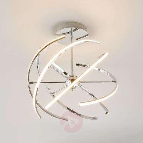 Elegant chrome LED ceiling lamp Noctis