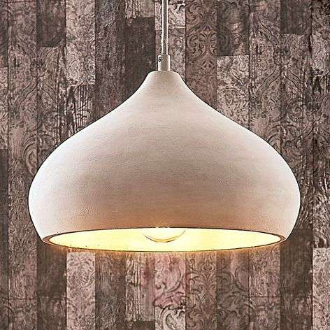 Elegant concrete hanging light Morton