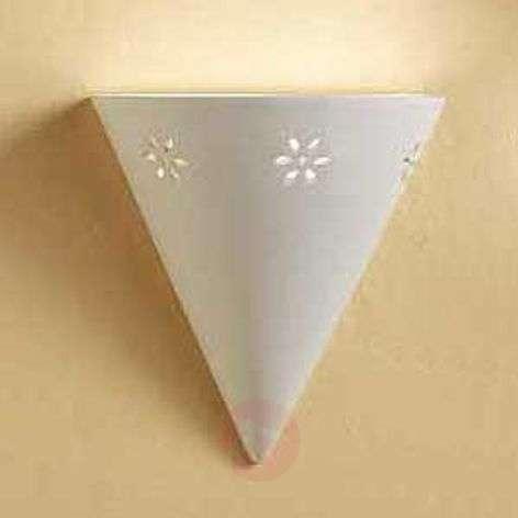 Elegant Cono wall light in white ceramic