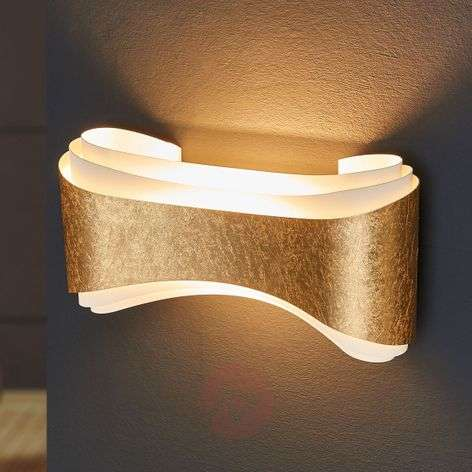 Elegant designer wall light Ionica with gold band