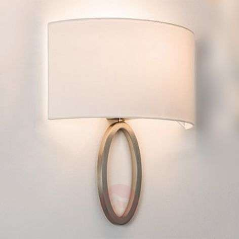 Elegant fabric wall light Lima in white-1020521-31