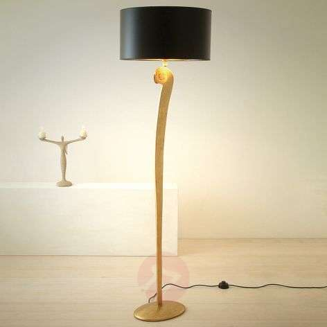 Elegant floor lamp LORGOLIOSO in gold-black