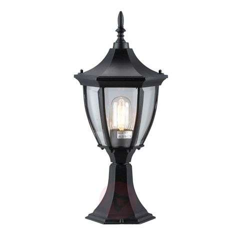 Elegant Jonna pillar light, black