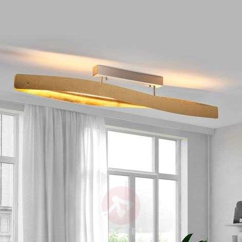 Elegant LED ceiling light with a metal leaf finish