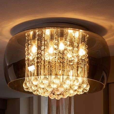 Elegant LED crystal ceiling light Leona