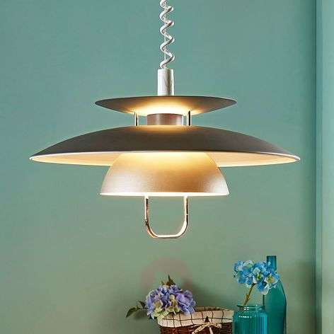 Elegant LED dining pendant light Nadija, grey