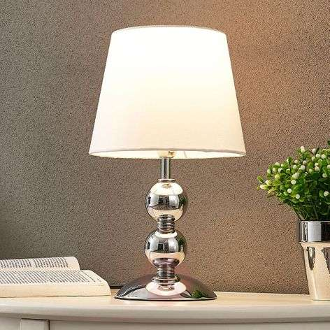 Elegant LED table lamp Minna with a satin look