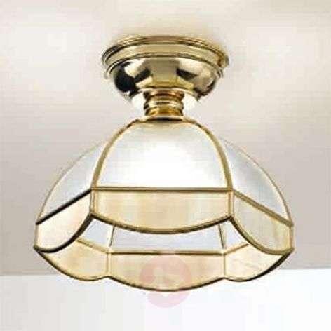 Elegant Libeccio ceiling light, gold-coloured