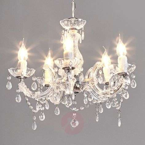 Elegant-looking Arabesque chandelier, transparent