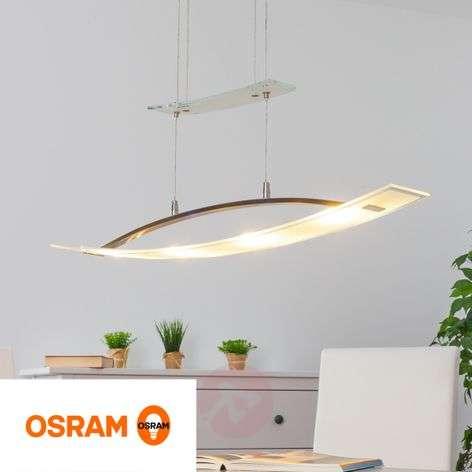 Elegant Mirka LED pendant lamp, height-adjustable