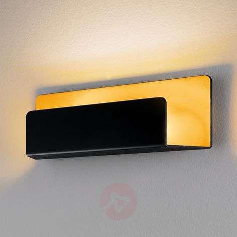 Elegant Rise wall light in gold and black, IP44