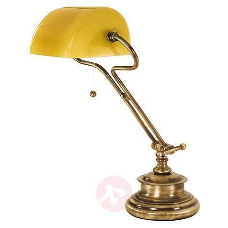 Elegant table lamp FIGI, burnished brass