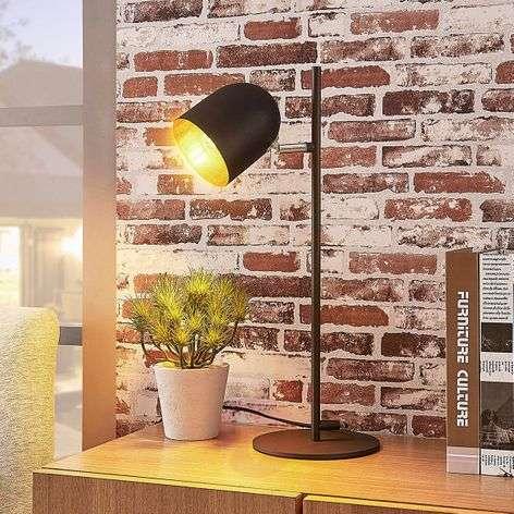 Elegant table lamp Morik, black-gold