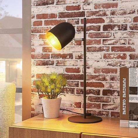Elegant table lamp Morik, black-gold-9624160-32