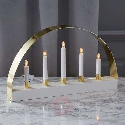 Elegantly designed candleholder Noble white-1523284-31