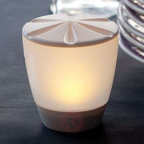 Elegantly shaped LED solar table lamp Turner