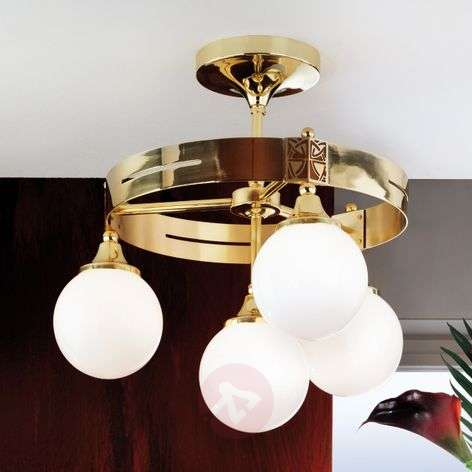 Eleganzia Ceiling Light Four Bulbs Brass