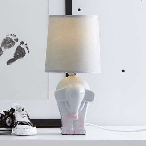 Elephant - a sweet table lamp in white