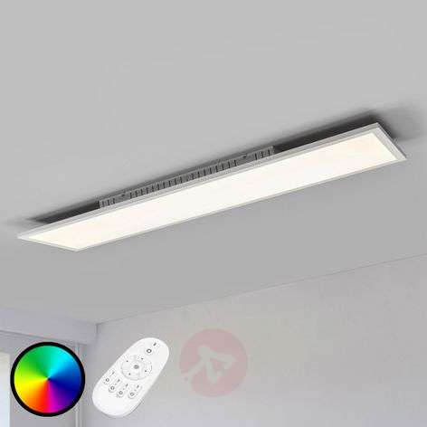 Elongated, dimmable Milian LED ceiling light, RGB