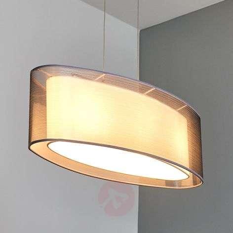 Elongated Nica fabric pendant lamp