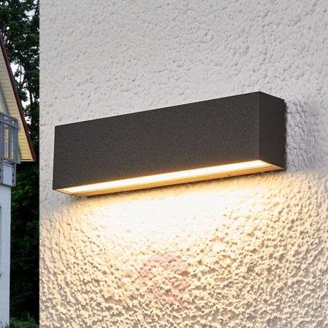 Elvira - graphite-grey IP65 LED outdoor wall lamp