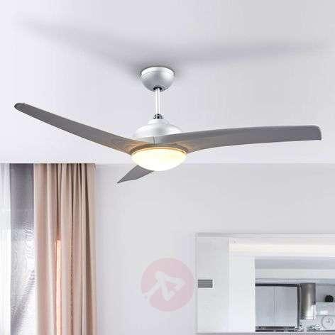 Emanuel silver ceiling fan with light