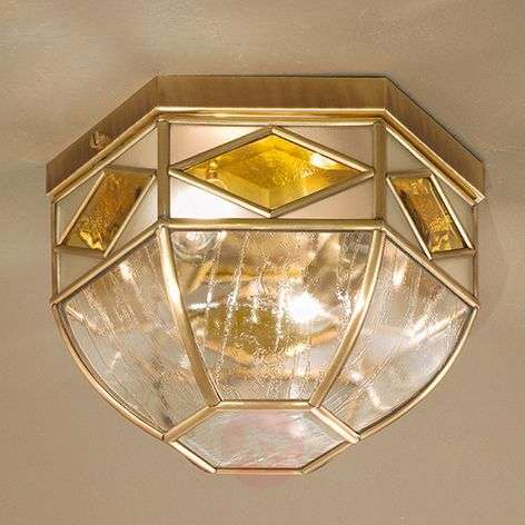 Emilia - ceiling light with cathedral glass