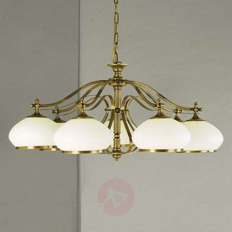 Empira Hanging Light Seven Bulbs Old Brass