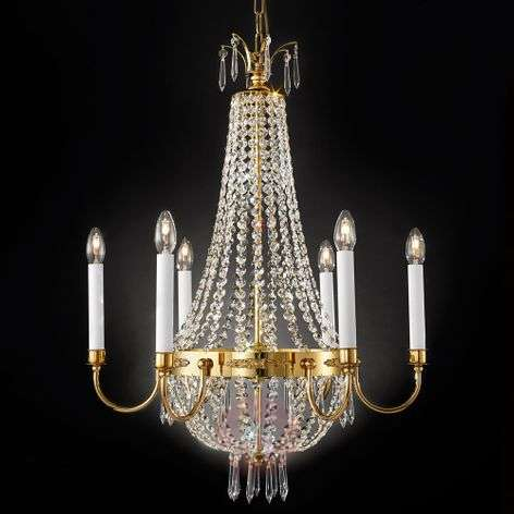 Empire Crystal Chandelier Gold