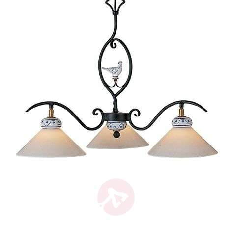 Enchanting PROVENCE CHALET hanging light, 3-bulb