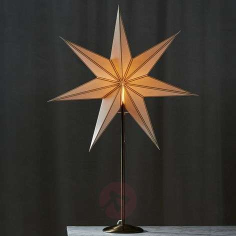 Enchanting star decorative light Nicolas brass